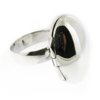Rishi Alexander Sterling Silver oval locket Ring Highly Polished