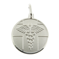 925 sterling silver medical ID pendant with medical conditions engraved on the back