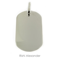 925 sterling silver military style dog tag with name dates or anything you want personalized engraving your way