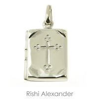 925 sterling silver round locket pendant with a personalized monogram engraved