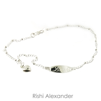 925 sterling silver chain personalized engraved name anklet