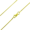 Sterling Silver 14kt Gold Plated 030 Snake Chain 1.25mm or 030 guage vermeil