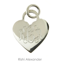 Rishi Alexander Sterling Silver personalized heart monogram pendant