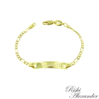 18k gold filled personalized id bracelet