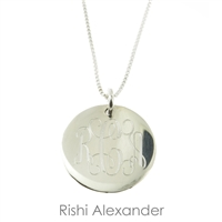 925 stelring silver childrens monogram necklace