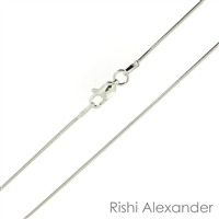 Sterling Silver rhodium plated Snake Chain 1mm or 025