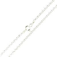 Sterling Silver Rolo Chain 2mm links with spring ring