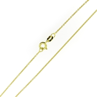 14kt Gold plating over Sterling Silver Rolo Chain Vermeil .8mm thick with a spring ring clasp