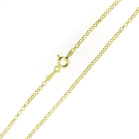 14kt Gold plating over Sterling Silver Rolo Chain Vermeil 2mm thick with a spring ring clasp