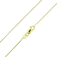 Sterling Silver 14kt Gold Plated 010 Snake Chain 0.7mm or 010 guage