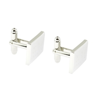 Palladium Finish rectangular cufflinks groomsmen or wedding gifts personalized monogrammed by Rishi Alexander