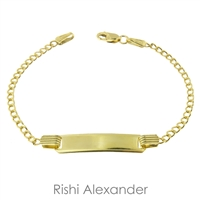 10k gold personalized curb id bracelet