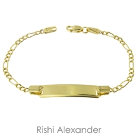 10k gold personalized id bracelet