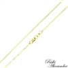10k gold box chain 0.8mm made in italy stamped 10kt
