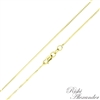 14k gold box chain 0.8mm made in italy stamped 14kt