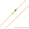 10k gold diamond cut wheat also know as spiga chain 0.6mm made in italy stamped 10kt
