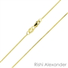 14k gold diamond cut wheat also know as spiga chain 0.6mm made in italy stamped 14kt