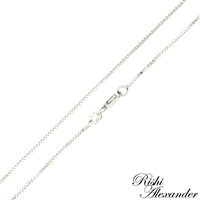 10k white gold box chain 0.8mm made in italy stamped 10kt