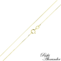 10k gold box chain 0.6mm made in italy stamped 10kt