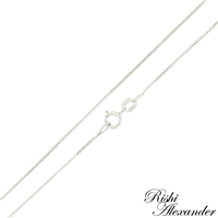 10k white gold box chain 0.6mm made in italy stamped 10kt