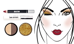 Glitter & Matte Oh Naturel + Gold Glitter Makeup Kit 4 Pc