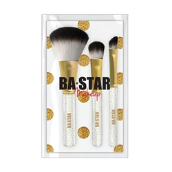 Sparkle 3 Pc Eye & Face Brush Set for Cheer & Dance Makeup