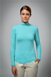UV sun safe protected High Tech Polo neck - Turquoise