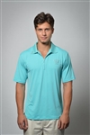 Sun Safe, UV Protected Polo Shirt: Turquoise