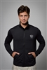 Sun safe, UV protected zip up jacket top: Black