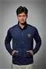 Sun safe, UV protected zip up jacket top: Deep Blue