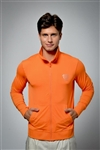 Sun safe, UV protected zip up jacket top: Orange