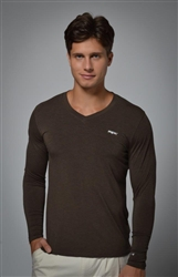 V-Neck Knit - Brown