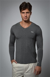 V-Neck Knit - Grey