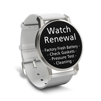 Watch Renewal for 1 Standard Grade Quartz (Battery, Pressure Test, Cleaning)