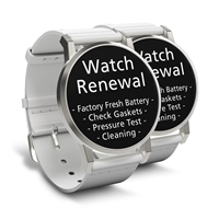 Watch Renewal for 2 Watches (Battery, Pressure Test, Cleaning)