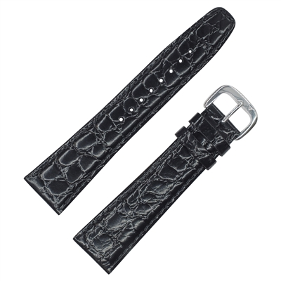 Croc Grain Genuine Leather (Black)