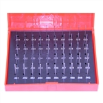 Pin gauge set .011 to .060 inch