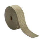 "Header & Exhaust Pipe Insulation Wrap, Roll 1/16"" X 1"" X 50', TAN/NATURAL"