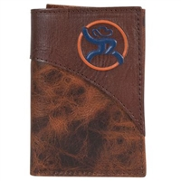HOOey Roughy Trifold Blue/Orange Logo Wallet