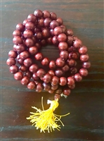 Hand Carved Black Rosewood Mala - 108 Beads 10 mm.