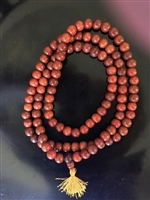 Hand Carved Black Rosewood Mala - 108 Beads 12 mm.