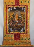 Manjushri 50 Inch Thangka with Real Gold Leaf