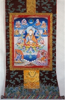 Guru Rinpoche Brocaded Thangka 50 inches