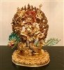 24 Carat Gilded Fully Gilded  Copper White Dzambhala Statue