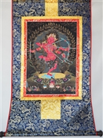 Kurukulle Print Brocade Thangka 32 Inches