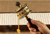 Gold Plated Om Mani Prayer Wheel