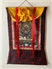 Large 6 Armed Mahakala Print Brocaded Thangka 48 inches