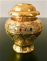 8 Auspicious Symbols Gold Plated Treasure Vase