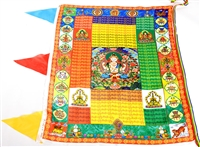 Large Chenrezig Prayer Flag 3 Feet