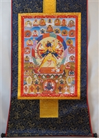 Kalachakra Brocaded Thangka 48 inches